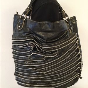 Mischa Zippered Large Handbag